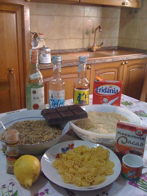 Ingredienti per i Maccheroni